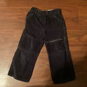 5/20 Tommy Hilfiger black cord pants 3T